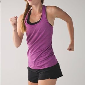 Lululemon swiftly tech racer back 6 plum stripe